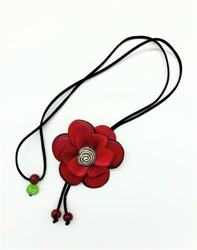 פרח 3D אדום
