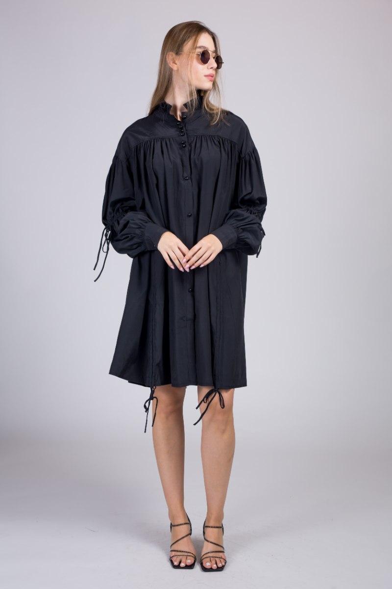 שמלת משי שילוב כיווץ NEW 2021