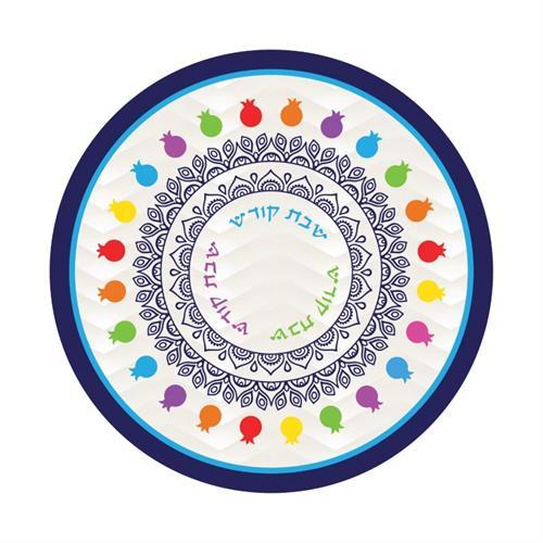 תחתית לסיר זכוכית דגם מעגל רימונים