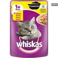 ויסקס מעדן פאוץ' לחתולים עוף  100 גרם - WHISKAS CHICKEN 100G