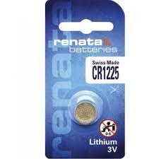 סוללות ליטיום 4 יחידות RENATA LITHIUM CR1225