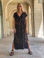 שמלת NAM - שחור מודפס V