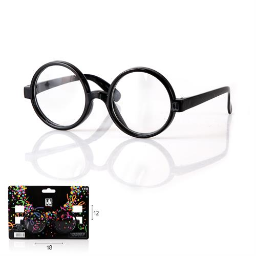 משקפיים עגולים שחורים