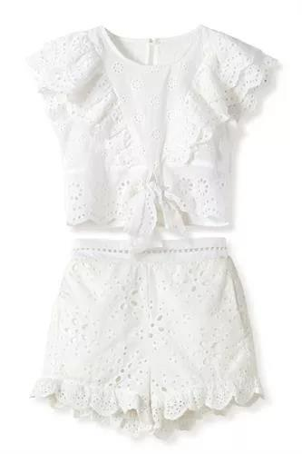 חליפת תחרה לבנה FLAMINGO
