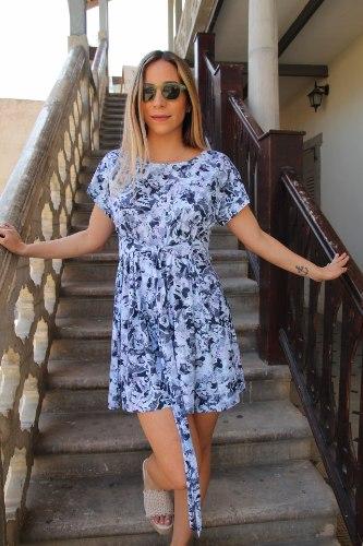 שמלת קשירה כחולה