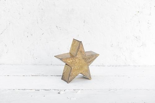 כוכב מתכת קטן זהב גס