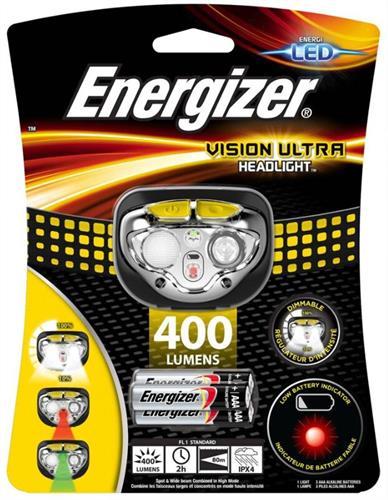 פנס ראש לד | Energizer vision ultra 400 lumens