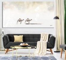 ציור בוהו מעל ספה