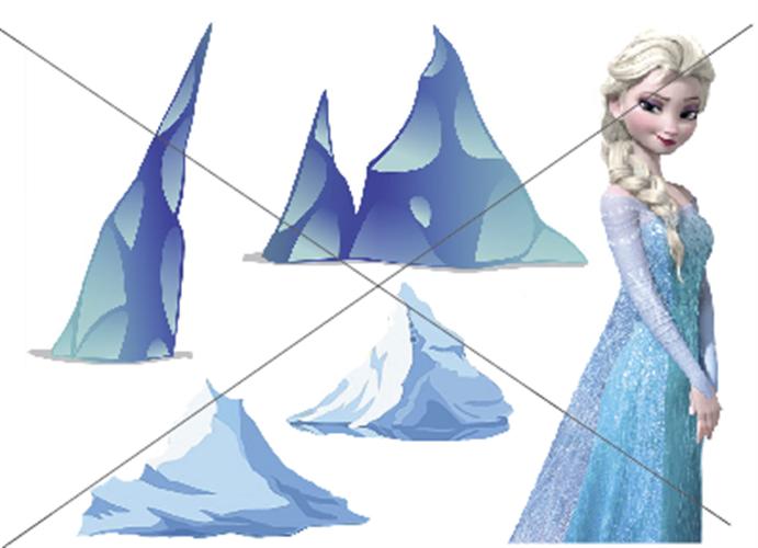 דף טרנספר - אלזה וקרחונים 2
