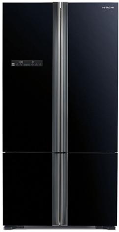 מקרר 4 דלתות היטאצי גימור זכוכית שחורה דגם HITACHI R-WB800PRS5