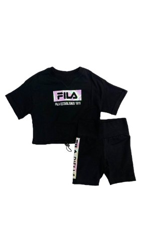 חליפת טייץ שחורה FILA לוגו מבריק (2-16)