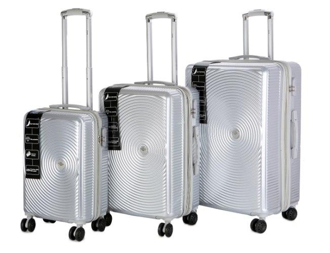 סט 3 מזוודות של המותג האוסטרלי Courier - צבע כסוף