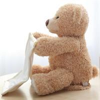 דובי משחק מחבואים עם שמיכת סטאן נעימים למגע עבור התינוק