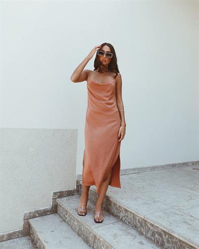 שמלת מידי דונה ליידי - אפרסק