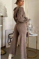 סט אלבמה טופ קפוצ'ון + מכנסיים