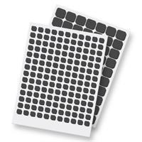 ריבועי דבק דו צדדי מוקצף 3L – שחור