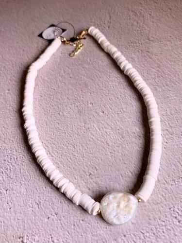 שרשרת חרוזים סיליקון לבן
