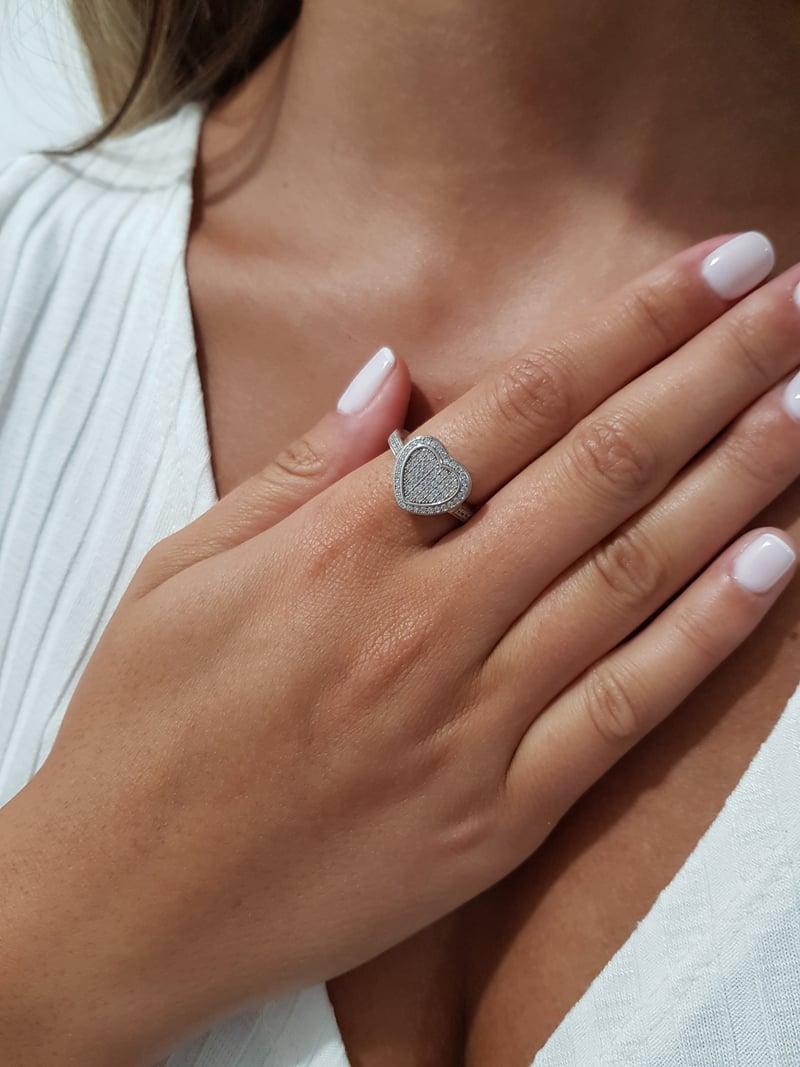 טבעת לב שטוח
