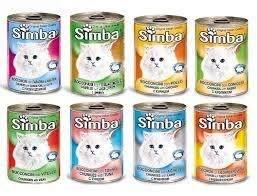 """מגש שימורים סימבה לחתול 400 גרם 24 י""""ח"""