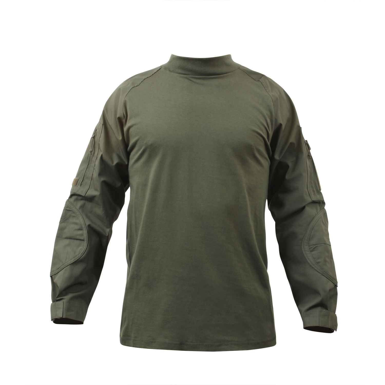 חולצה טקטית מדי לחימה  צבע ירוק זית דגם מעכב בעירה FR