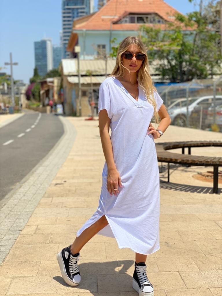 שמלת לירון לבן THOMAS