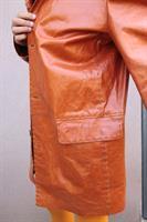 מעיל עור בעבודת יד מיוחד ונדיר מידה XXL