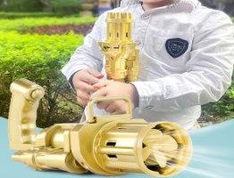 משחק רובה בועות סבון צבעוניות איכותי לילדים