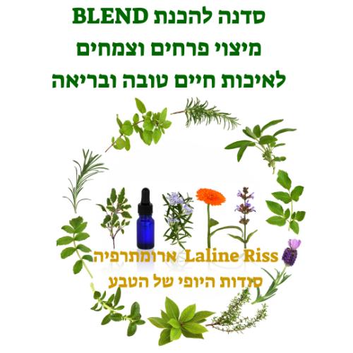 """סדנה להכנת  """" בלנד BLEND """" מיצוי מפרחים וצמחים לאיכות חיים טובה ובריאה"""