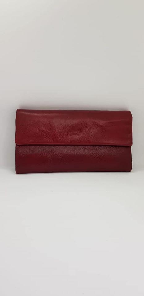 ארנק עור 6006 אדום