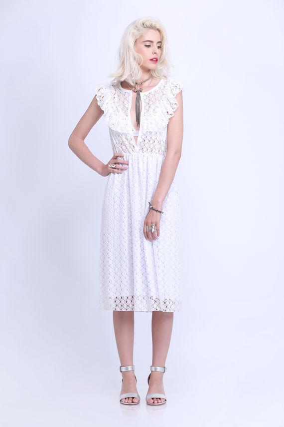 שמלת לייס לבנה