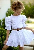 שמלת תחרה בשילוב חגורה (4-14)