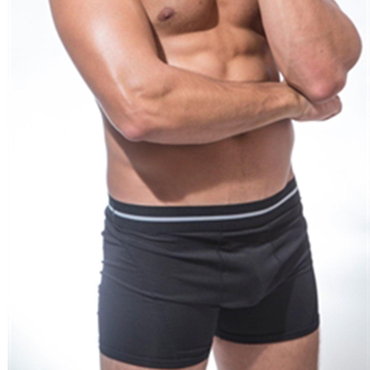 תחתוני בוקסר לגברים תחתוני Dry-Fit איכותיים בצבע שחור (3 אינצ')