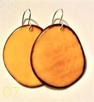 עגילי פרוסה טאגווה גוון צהוב חרדלי