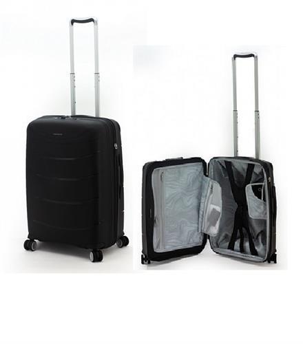 סט מזוודות קשיחות פוליפרופילן מעולות מדגם 28+RICARDO BEVERLY HILLS MENDOCINO 20 שחור