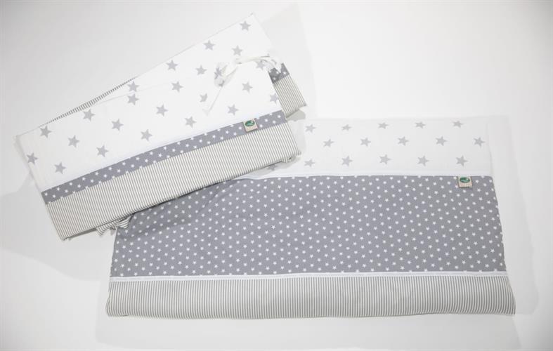 מגן למיטה אפור כוכבים