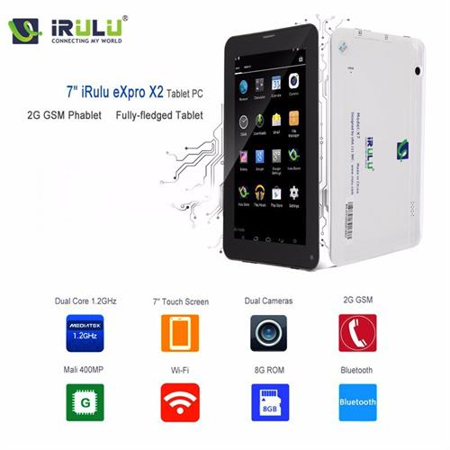 """מכשיר פאבלט iRULU Phablet eXpro X2c 7"""" סמארטפון וטאבלט במכשיר אחד +נרתיק מתנה"""