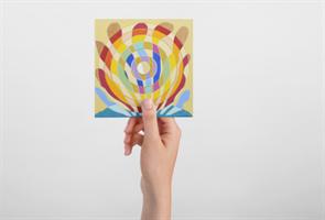 """מגנט אומנותי- מנדלת """"מעיין החיים"""" - מנדלה מקורית בעבודת יד מודפסת על מגנט"""