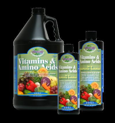 תוסף ויטמינים וחומצות אמינו + באפר 500 מל MicrobeLife Vitamins & Amino Acids