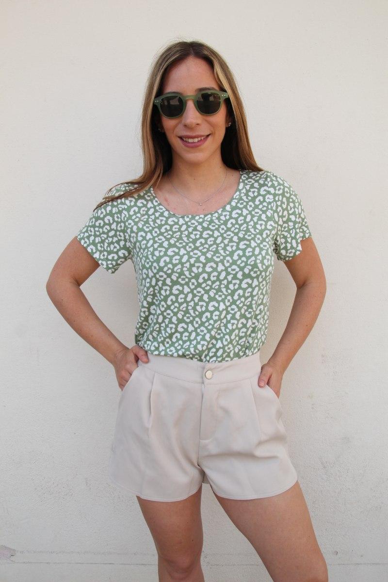 חולצת לילי ירוק מנומר