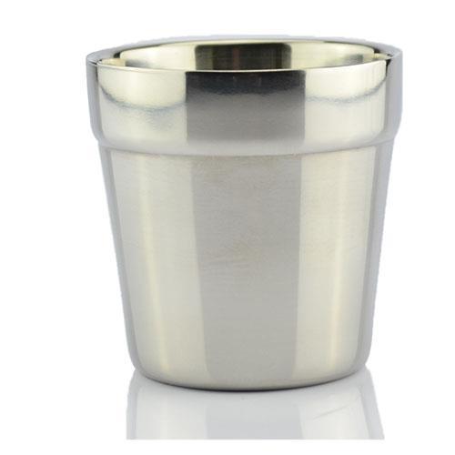 """כוס נירוסטה דופן כפולה - 180 מ""""ל"""