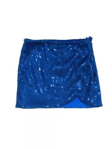 MISS KIDS חצאית כחולה נצנצים