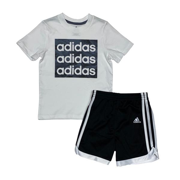 חליפת ספורט ADIDAS - לבן שחור