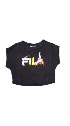 חולצת בטן שחורה גרפיטי (FILA(4-16