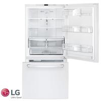 LG מקרר מקפיא תחתון 631 ליטר דגם: GM-650W לבן מתצוגה !