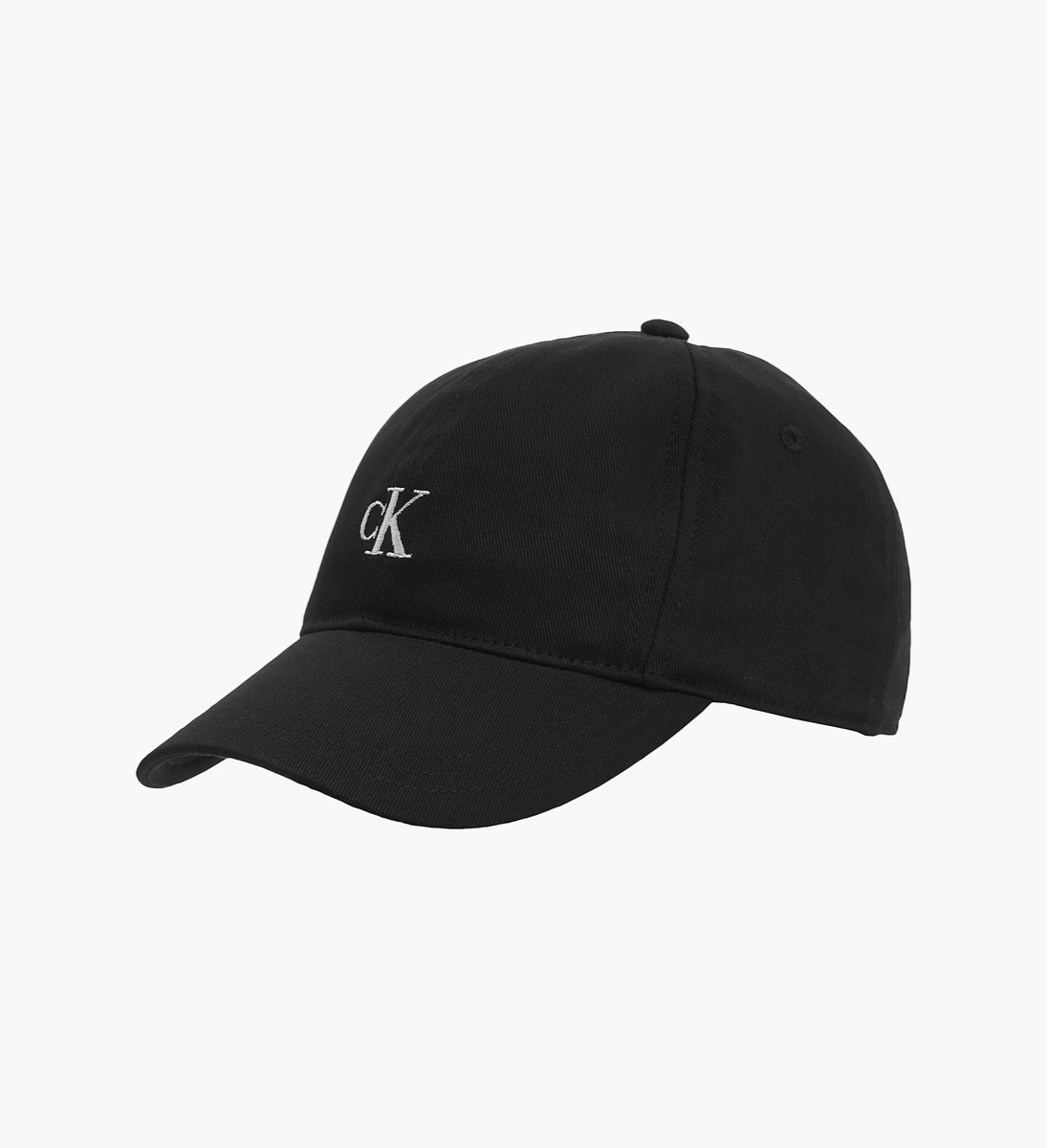 CK כובע שחור לוגו לבן