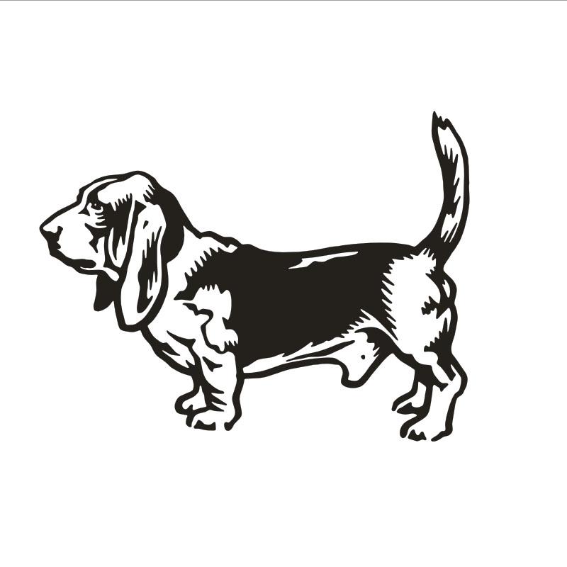 מדבקת קיר כלב בייגל