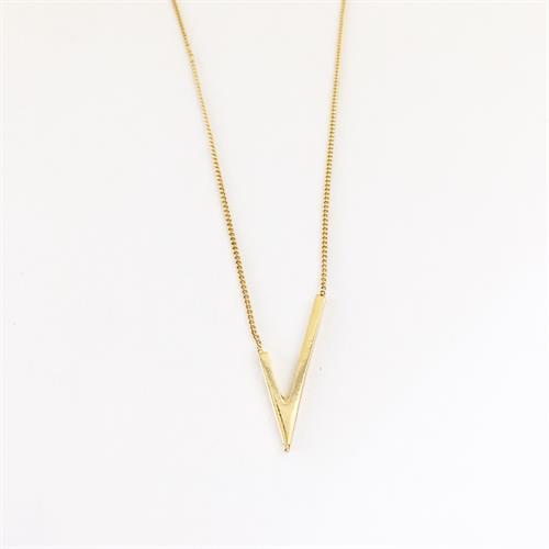 שרשרת ויוי א-סימטרית זהב