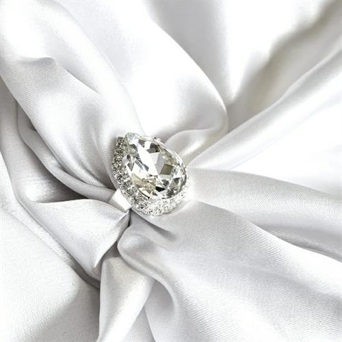 טבעת טיפה סברובסקי - קריסטל