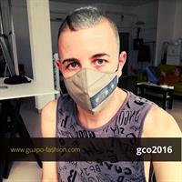 מסכת בד מעוצבת בסגנון צבאי washable face mask
