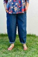 מכנסיים מדגם נור בצבע ג׳ינס